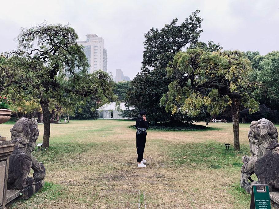 Kleine Ruheoase, mitten in der Stadt: Der Garten im Intercontinental Hotel