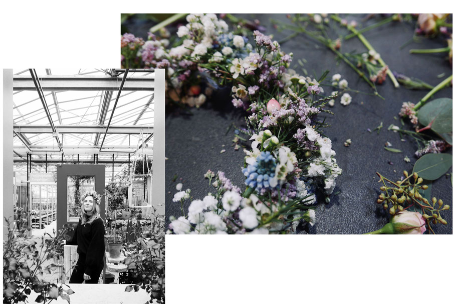 Neuentdecktes Talent: Blumenkranzbasteln in der Gaab Floristik & Gärtnerei
