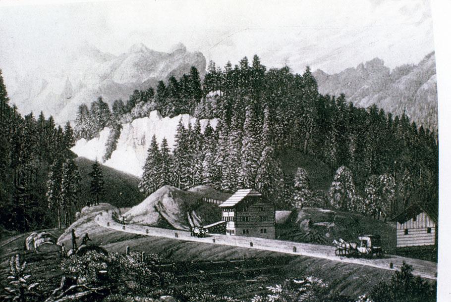 Schmelzi in Sufers. Bergbau im Rheinwald.