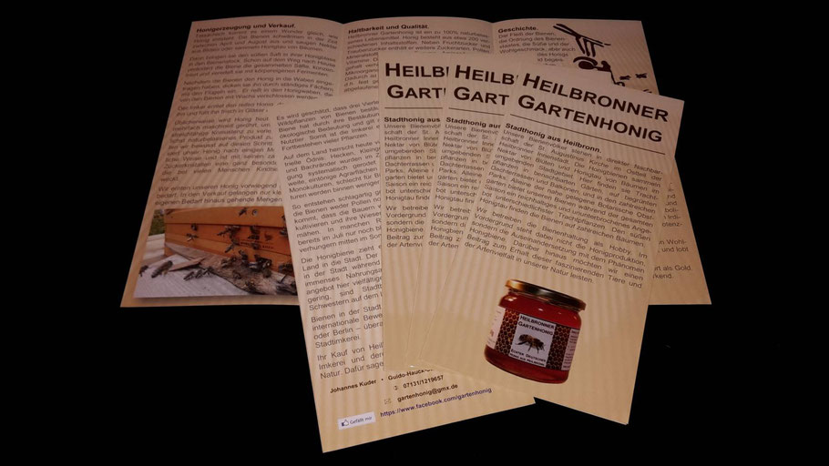 Heilbronner Gartenhonig Flyer
