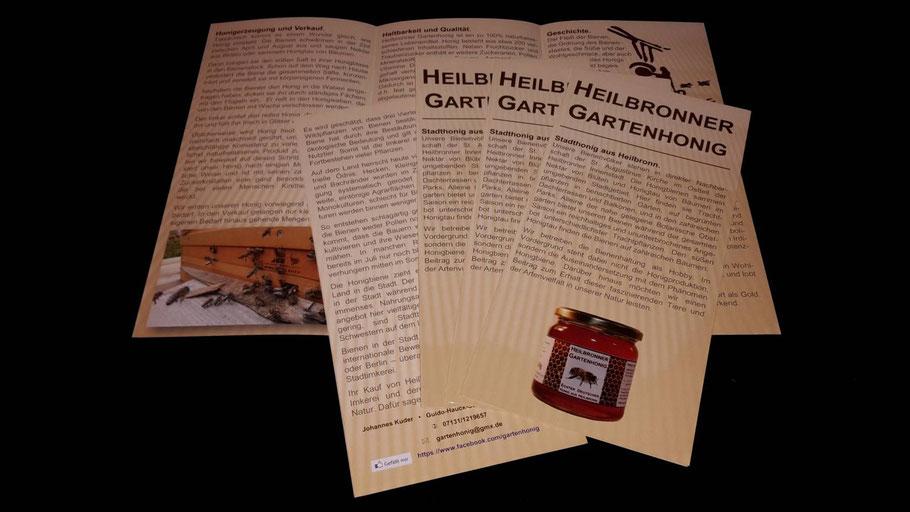 Heilbronner Gartenhonig Flyer.