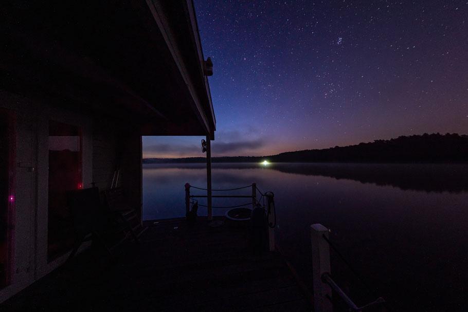 Nachts um 03.30 Uhr auf dem Möllensee