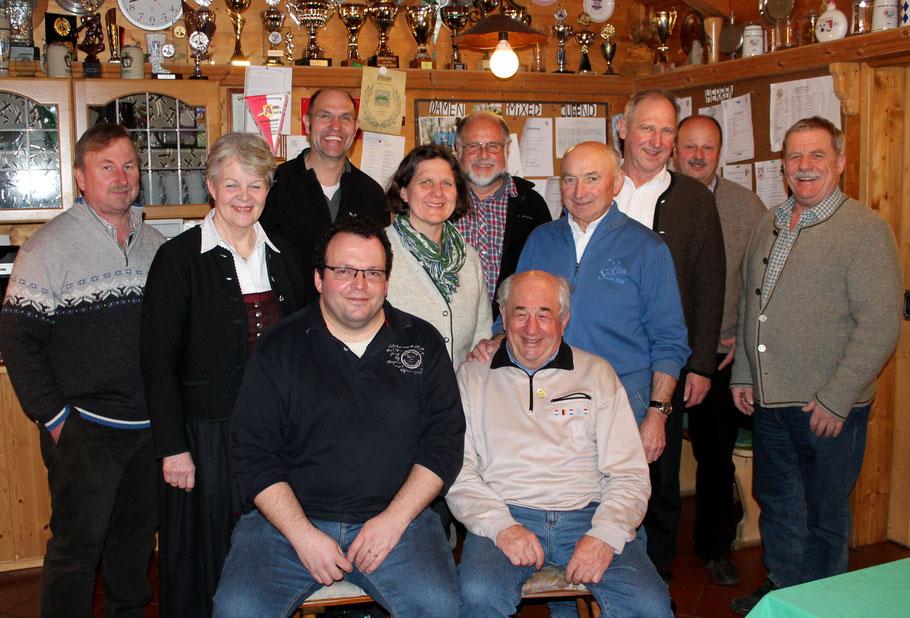 Die neue Vorstandschaft des EC Bad Feilnbach