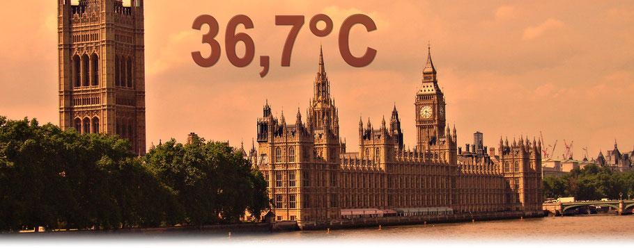Am 01.07.2015 erlebte Groß Britannien mit 36,7°C in Heathrow den heißesten Julitag seit Beginn der Wetteraufzeichnungen. | Bildquelle: Denny Karran