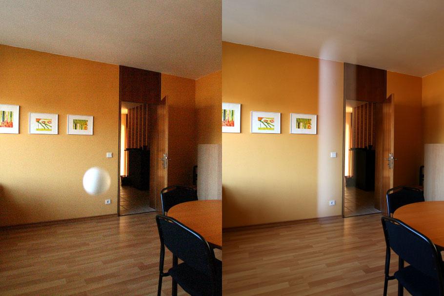 Die Belichtungszeit hat Auswirkung auf die Darstellung bewegter Objekte