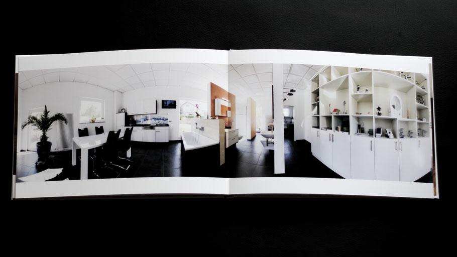 Immobilienfotobuch: Panorama eines Showrooms
