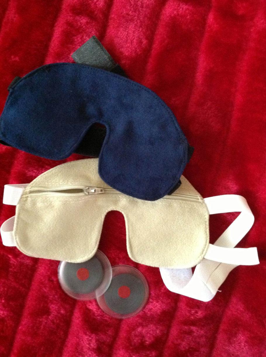 Schlafmaske mit Magnetspiralen - domovalentas Webseite!