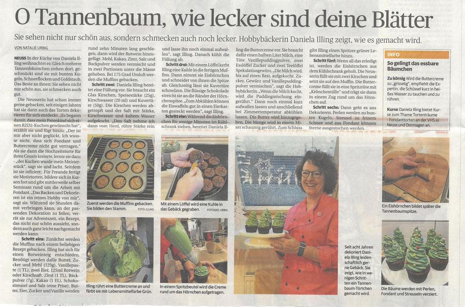 Neuss Grevenbroicher Zeitung Rheinische Post Adventskalender Tortenträume Tannenbaum CupCakes