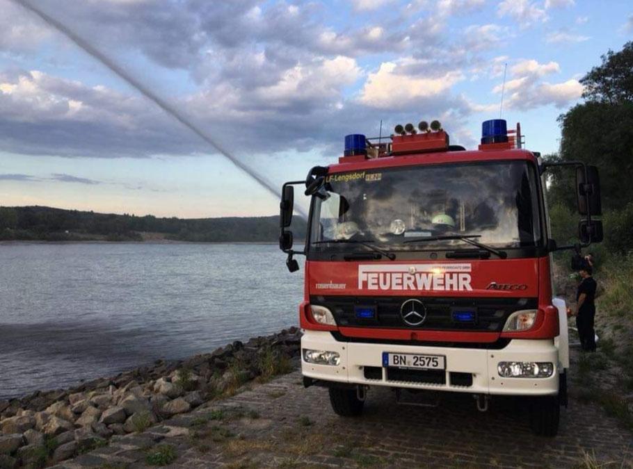 Übungsdienst am Bonner Rheinufer