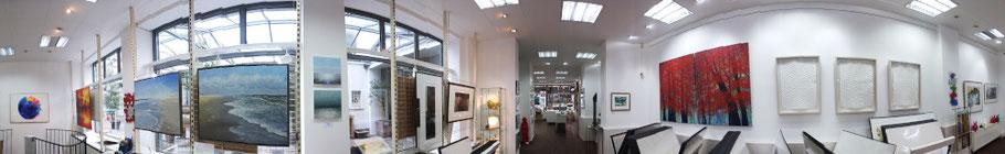 Innenansicht als Panorama der Kunsthandlung Langheinz