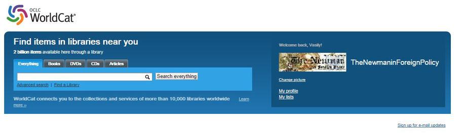 Наш журнал входит в WorldCat — это объединённый каталог из десятков тысяч библиотек по всему миру