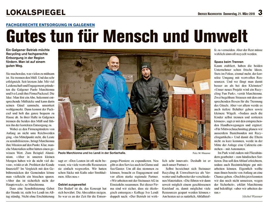 Obersee Nachricht 21.03.2019