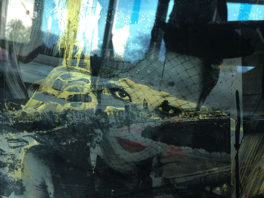 photography by: Julie Worsham | mixed media collaboration on plexi