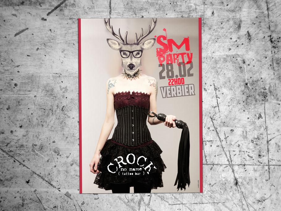 affiche création graphique théâtre design graphique crock no name verbier