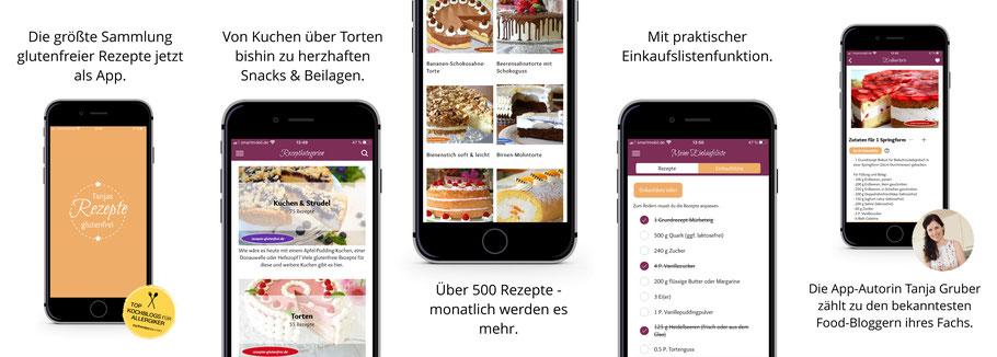 glutenfreie Rezepte nun als App verfügbar, von Tanja Gruber über den App-Verlag eat app live