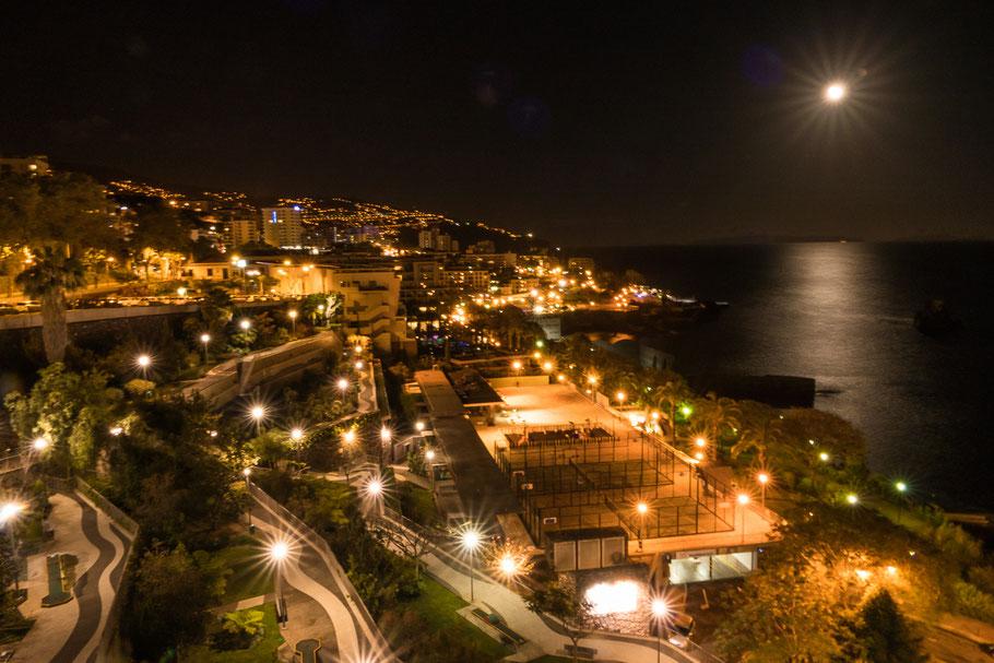 Funchal bij nacht, Madeira