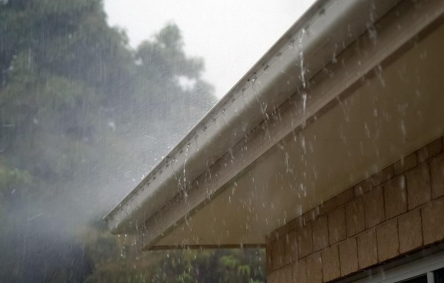 Regenval met langzame sluitertijd