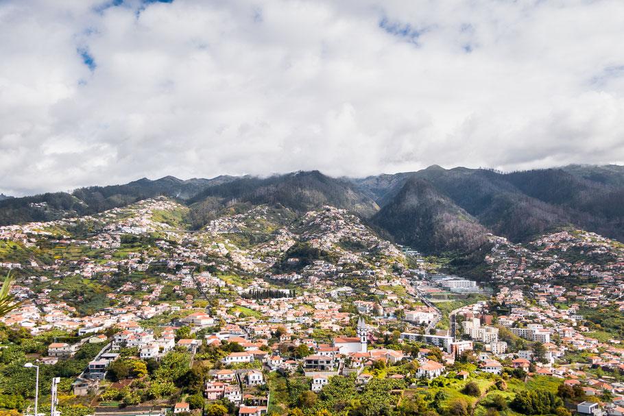 Het achterland van Funchal, de hoofdstad van Madeira,