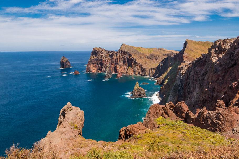 Het uitzicht van Ponta de Sâo Lourenço, Madeira
