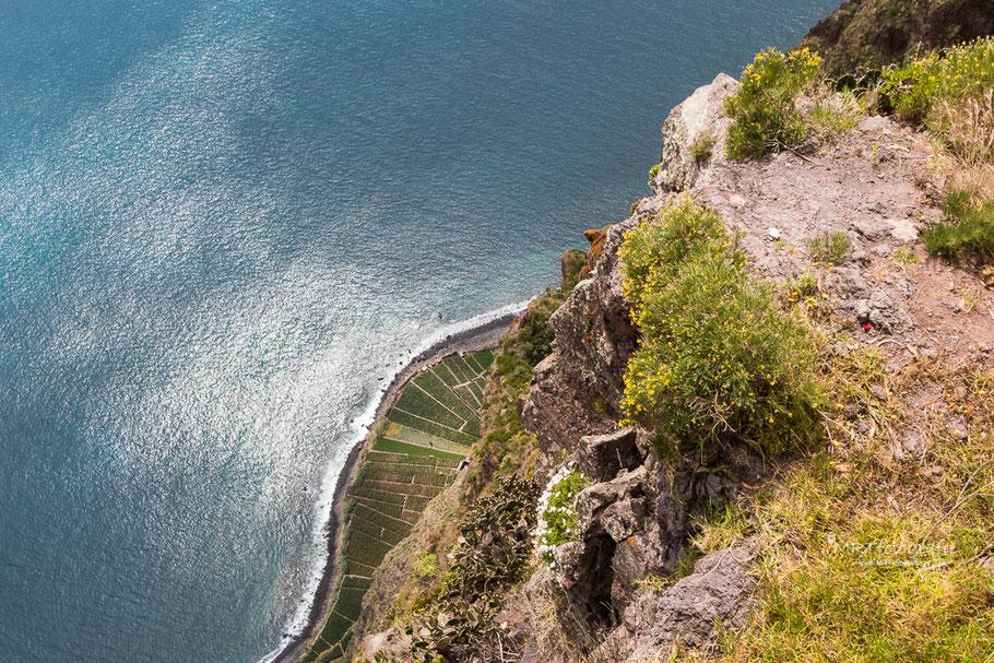 Hoogst klif van Europa De Cabo Giråo op Madeira