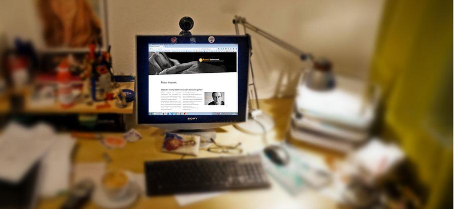 Rossi Internet - Der Schreibtisch an dem Homepages, Internetauftritte, Texte und Grafiken entstehen.