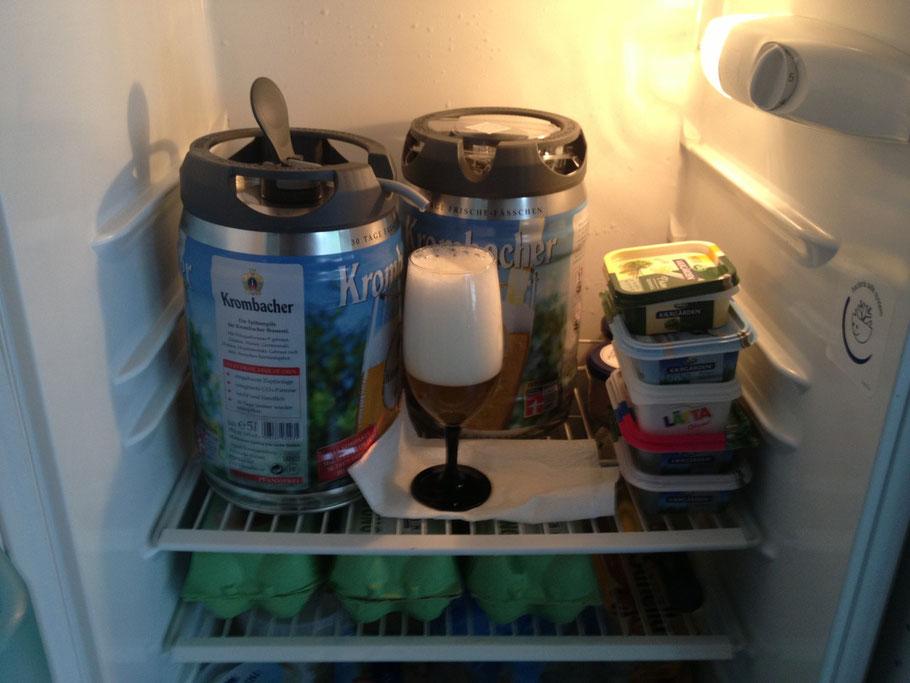 Die Zapfanlage im Kühlschrank
