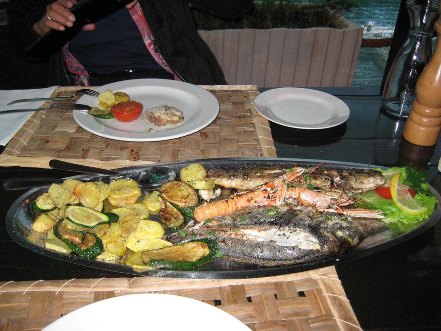Und die Fischplatte