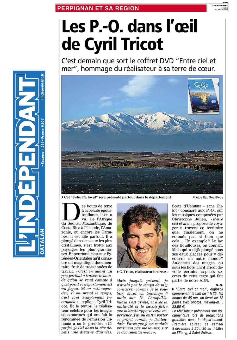 L'Indépendant (66) - 3 décembre 2012