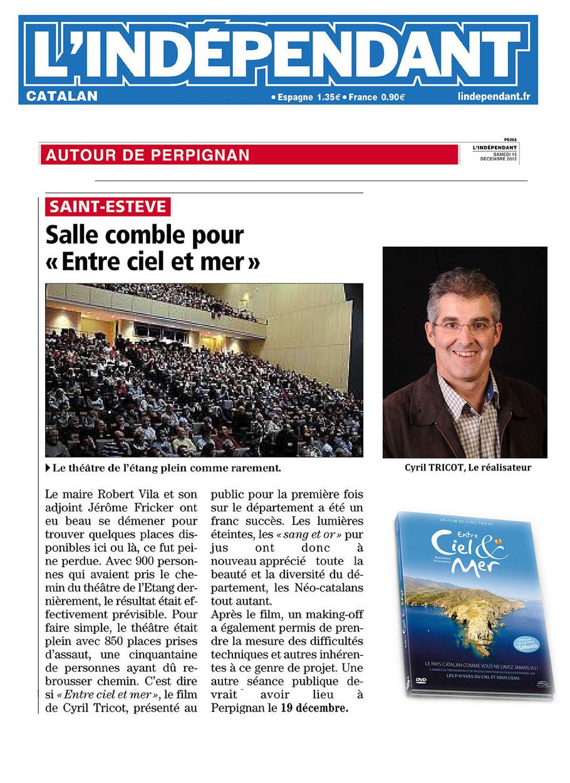 L'Indépendant (66) - 15 décembre 2012