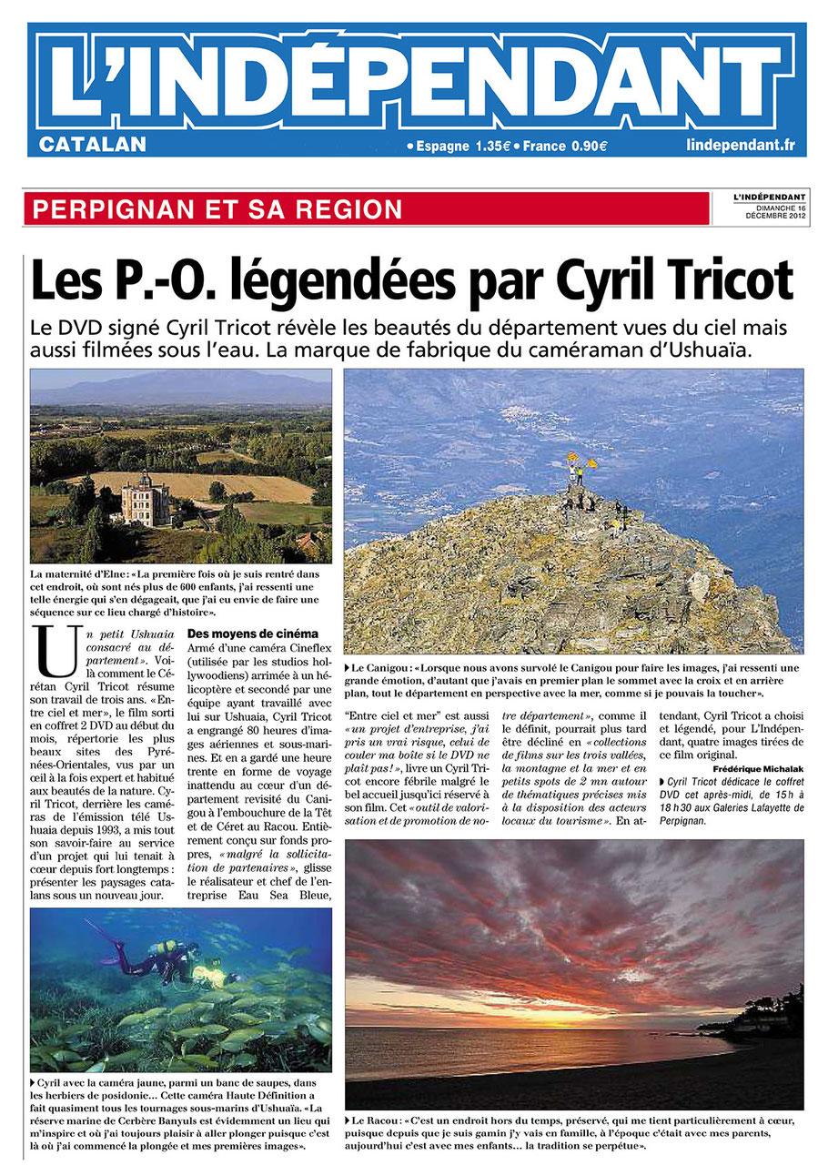 L'Indépendant (66) - 16 décembre 2012