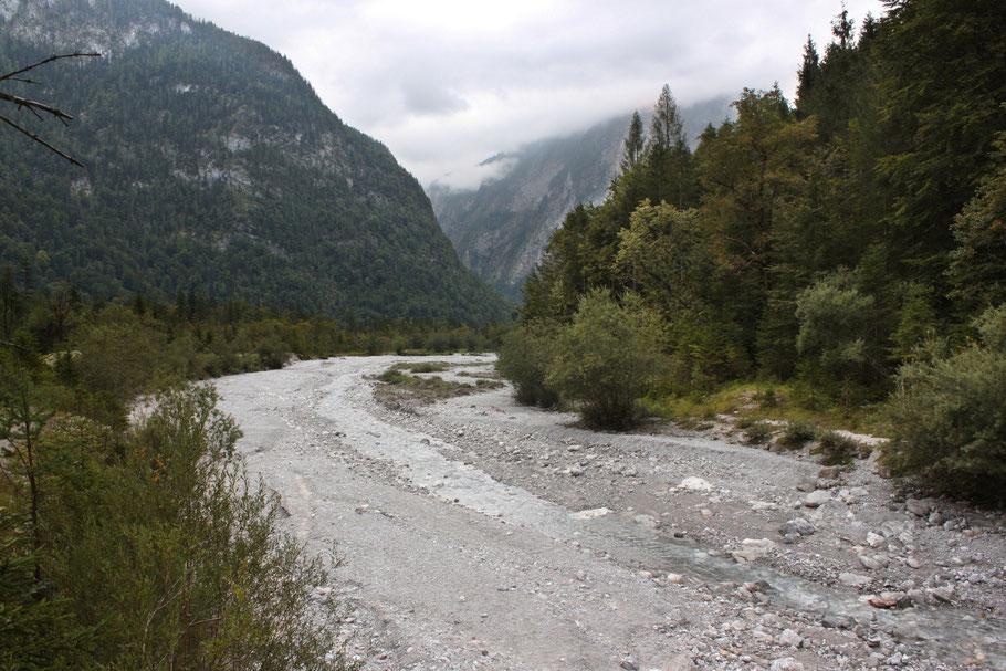Von der Haltestelle St. Bartholomä am Königssee führt ein Wanderweg zum Fuß der Ostwand des Watzmanns. (c) Salomé Weber