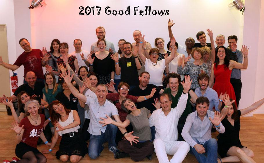 Les Good Fellows 2017 avec nos chers professeurs : Carla, Joao (Lisbonne), Marta et Daire (Dublin) !