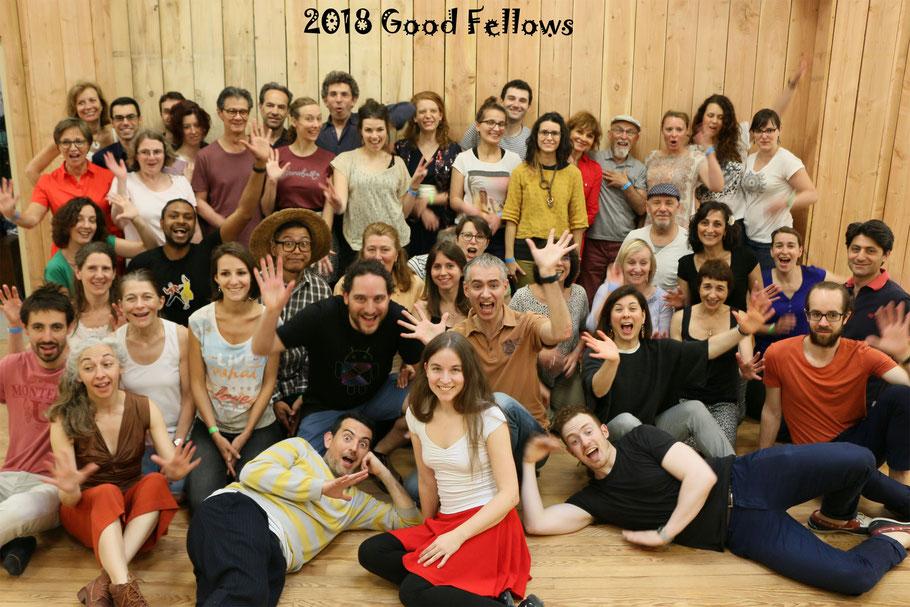 Les Good Fellows 2018 avec nos chers professeurs : Carla, Hugo (Lisbonne), Nick et Ilaria (Londres) !