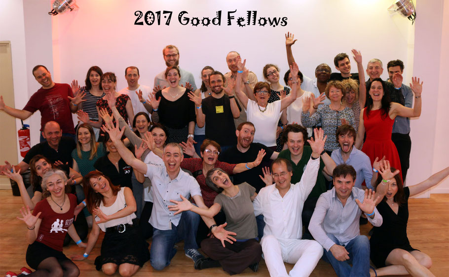 The 2017 good fellows with our dear teachers: Carla, Joao (Lisbon), and Marta, Daire (Dublin).