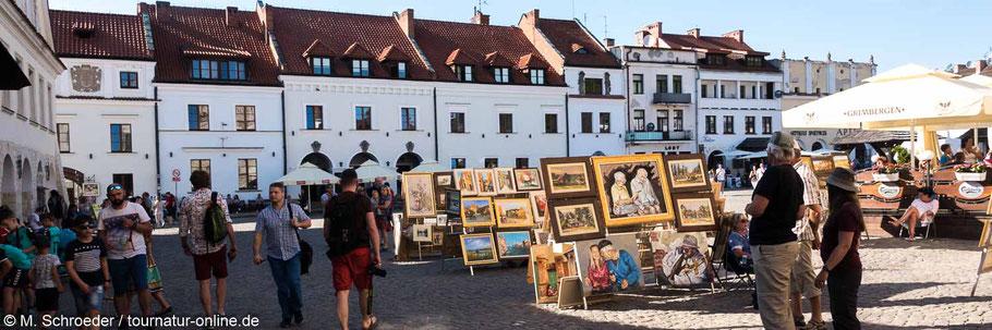 Malerische Altstadt um den Markt von Kazimierz Dolny