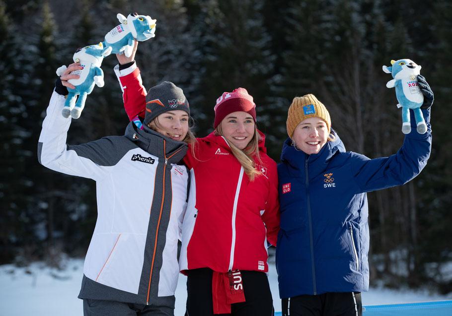 OIS/Ben Queenborough - Les trois finalistes en sprint.