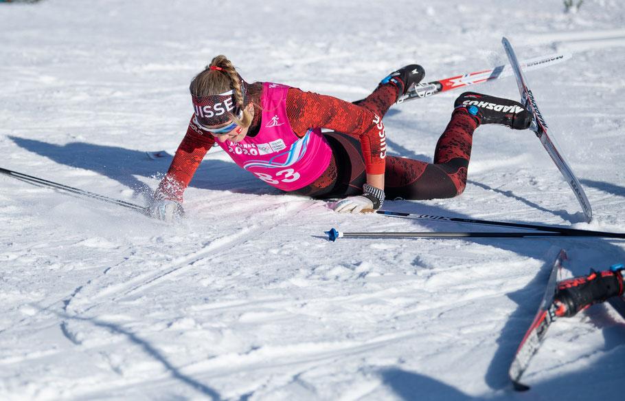 Siri Wigger contente de finir sa course. © OIS/Joel Marklund