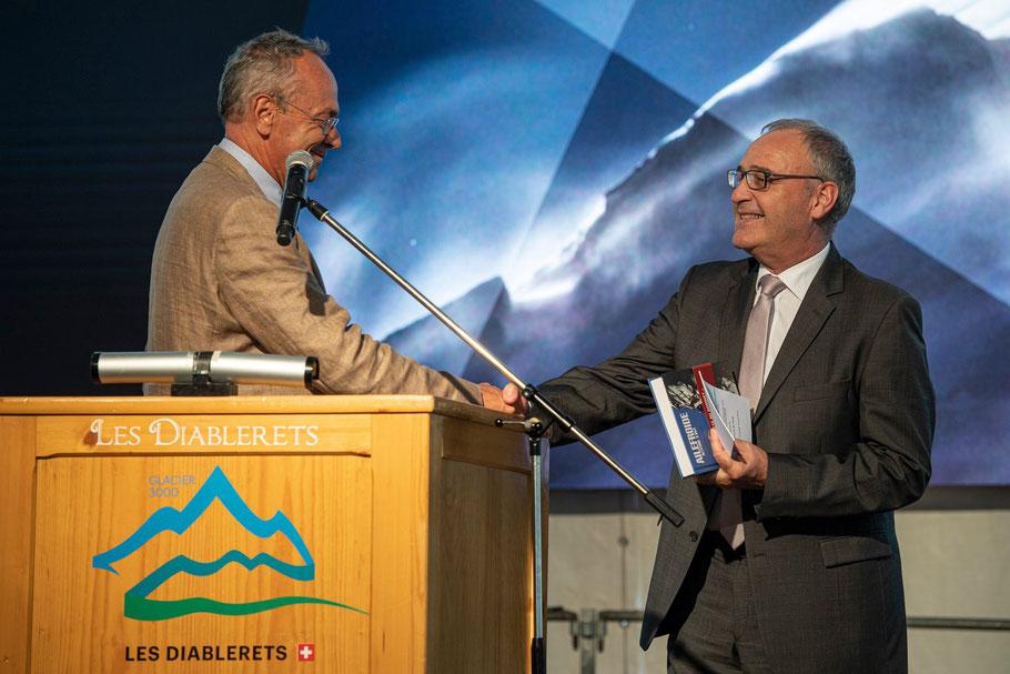 A gauche Olivier Français (CE et président du FIFAD) et à droite Guy Parmelin (CN) Photo : FIFAD