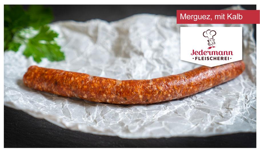 Kunkels Merguez, mit Kalbfleisch