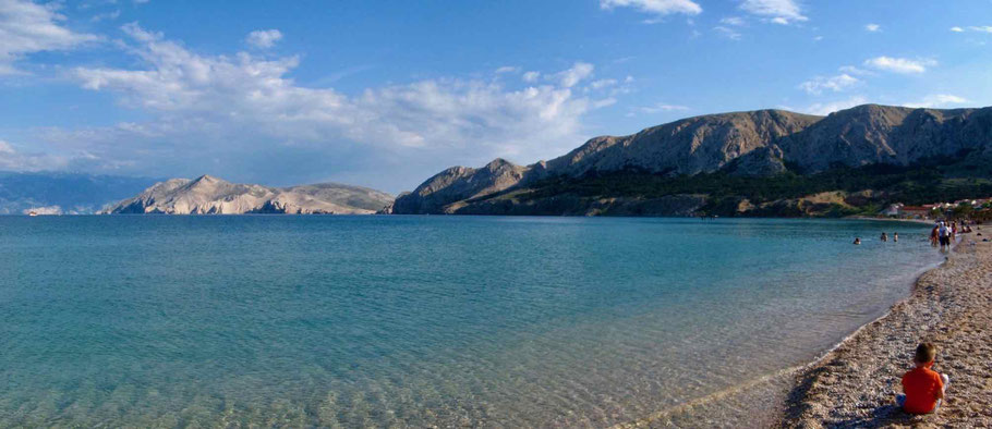 Bucht bei Baska auf der Insel Krk.
