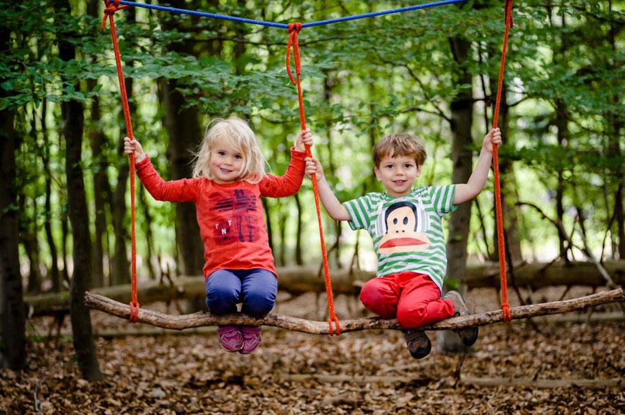 Buschabenteuer - mobile Niedrigseilgärten - Kindergeburtstage - Erlebnispädagogik