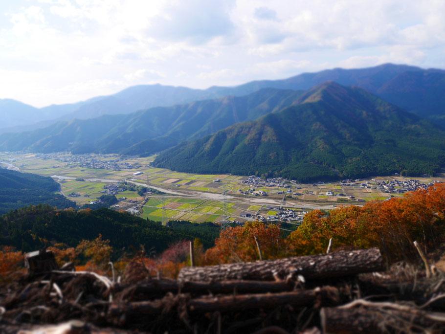 展望台から 標高523メートル