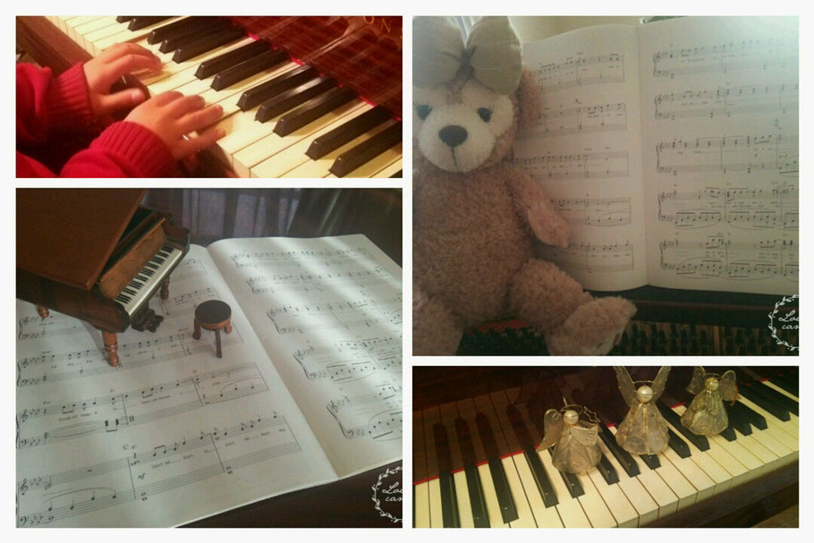 ピアノと生徒の手