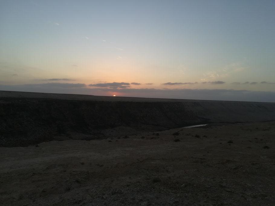 Sonnenuntergang am Khaoui Naam
