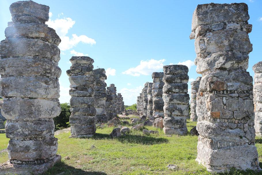 Columnas o pilastras de la estructura numero 1