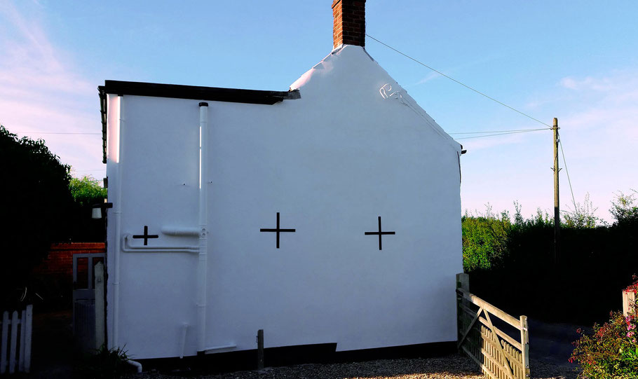 Lime Putty Render and Limewash applied to Gable End