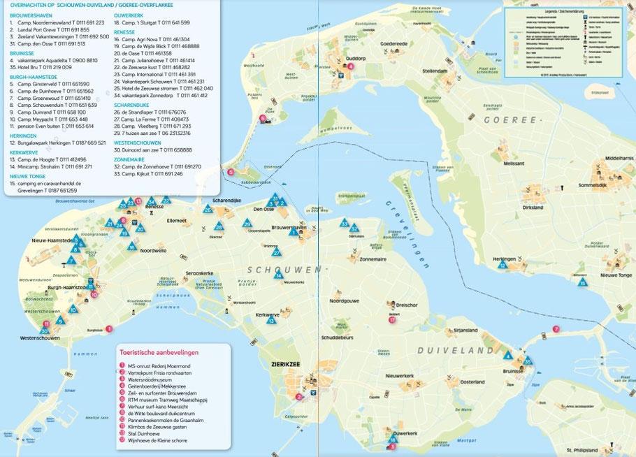 Zeeland Karte Niederlande.Zeeland Mobilheimvermietung Zeeland Nl