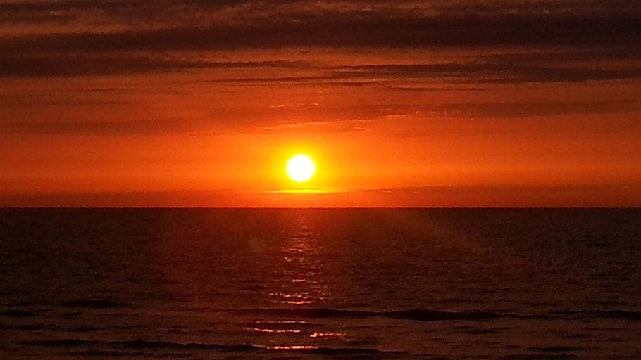 Sonnenuntergang, Deltawerke, Neeltje Jans