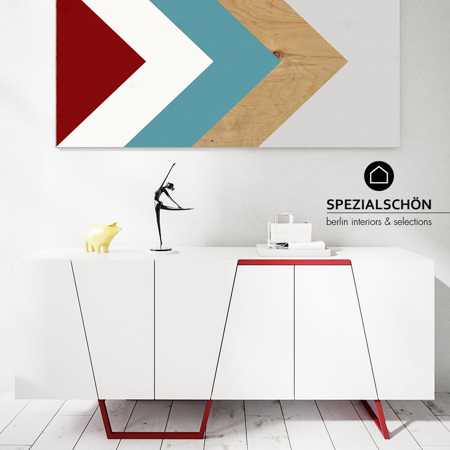 Graphic Sideboard, Grafik Sideboard, Chanel, BlackWhite, Modern Sideboard, Kommode, Schrank, Board, Modern Design, Designklassiker, Style Sideboard