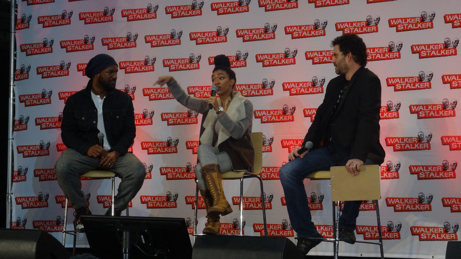 Kenric Green and Sonequa Martin Green at Walker Stalker Con